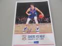 Dario Saric Philadelphia 76ers 2017 8x10 Lineup Card COA