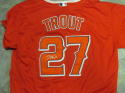 Mike Trout Los Angeles Angels Signed Red Alternate Jersey JSA