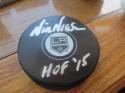 Nick Nickson  Los Angeles Kings Signed Logo Puck COA HOF