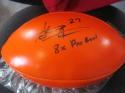 Steve Atwater Denver Broncos Signed Replica Orange Logo Football COA INS