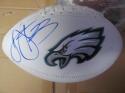 Troy Vincent Philadelphia Eagles Logo Football COA