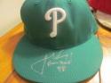 Jerad Eickhoff Philadelphia Phillies Signed Game Used St Pattys Hat MLB Auth