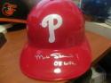 Matt Stairs Philadelphia Phillies Signed Batting Helmet COA INSCRIP