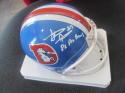 Steve Atwater Denver Broncos Signed Mini Helmet COA Inscription