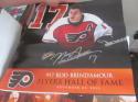 Rod Brind Amour Signed Philadelphia Flyers HOF Night Poster COA