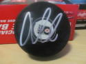 Oskar Lindblom Philadelphia Flyers Signed Logo Puck COA