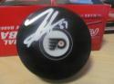 Tyler Sanheim Philadelphia Flyers Signed Logo Puck  COA