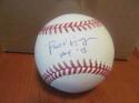 Paul Hagen  Philadelphia Phillies Signed MLB Baseball COA HOF