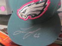 Lane Johnson Philadelphia Eagles Signed Fitted Hat COA