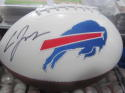 Cardale Jones Buffalo Bills Signed Logo  Football COA