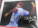 Charles Hudson Philadelphia Phillies Signed 8x10 Photo COA 3 Inscription