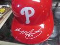 Mickey Morandini Philadelphia Phillies Signed Batting Helmet COA
