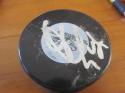 Viktor Arvidsson Nashville Predators Signed Logo Puck COA