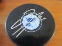 Dmitri Jaskin St Louis Blues Signed Logo Puck COA
