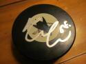 Melker Karlsson San Jose Sharks Signed Logo Puck COA