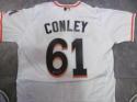 Adam Conley  Miami Marlins Signed Home Custom Jersey COA