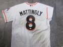 Don Mattingly Miami Marlins Signed Home Custom Jersey JSA