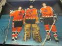 Ron Hextall/Kjell Samuelsson/Dave Poulin Philadelphia Flyers signed 11x14 AS Photo COA