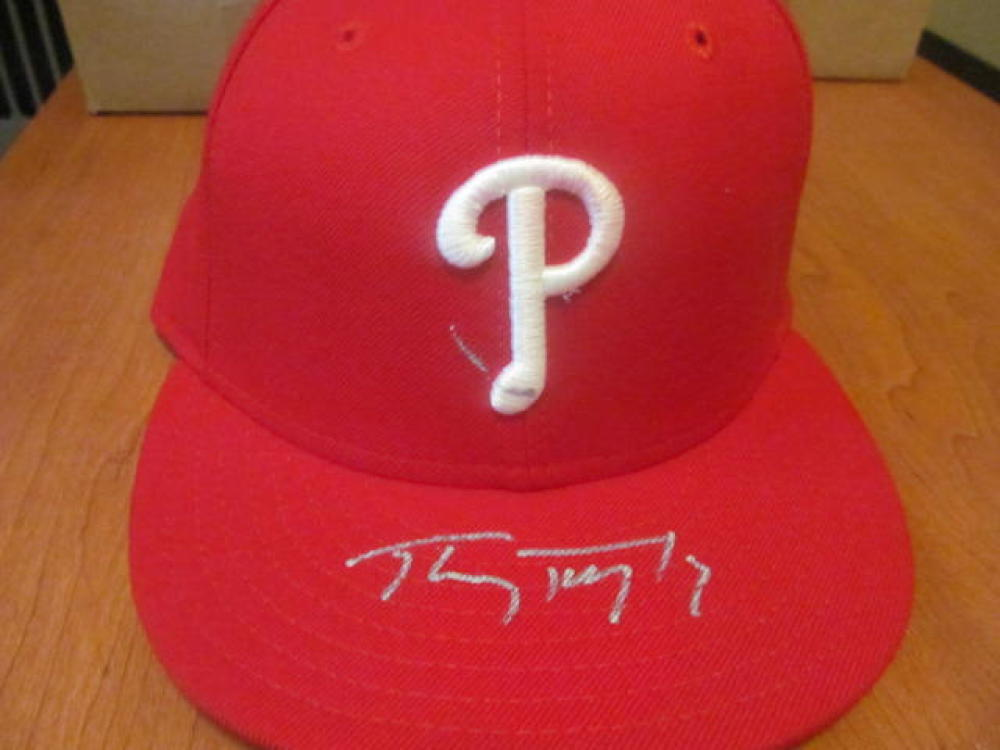 Tony Taylor Philadelphia Phillies Signed Fitted Hat COA